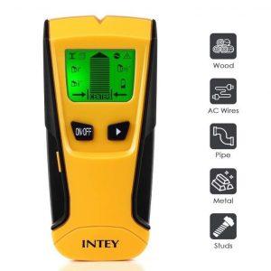 Detector de pared con pantalla LCD de Intey