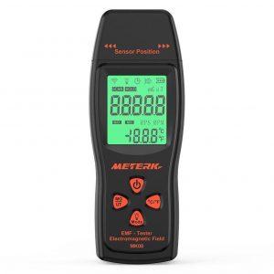 Detector de radiación de campo electromagnético