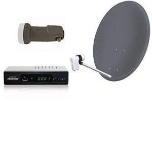 Kit de antena parabólica y decodificador eficiente