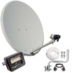 Kit de antena parabólica y decodificador Engel