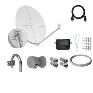 Kit de antena parabólica y decodificador Tecatel