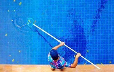Recogehojas de piscina