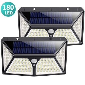 Luz solar de exterior con detector de movimiento