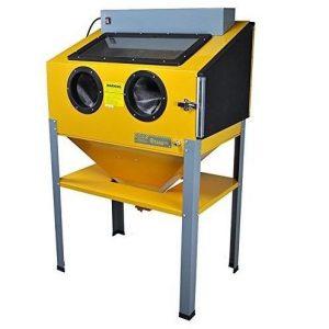 Máquina chorro de arena amarilla
