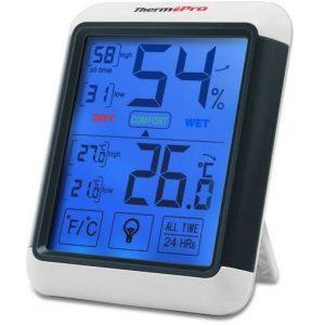 Medidor de humedad con pantalla táctil