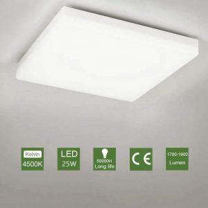 Plafón LED de cocina con diseño minimalista