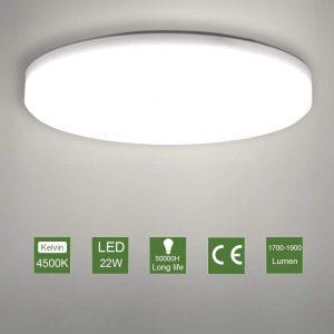 Plafón LED de cocina con instalación sencilla