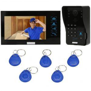 Videoportero con cámara de vigilancia y tarjetas ID