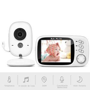Vigilabebés con cámara y pantalla LCD